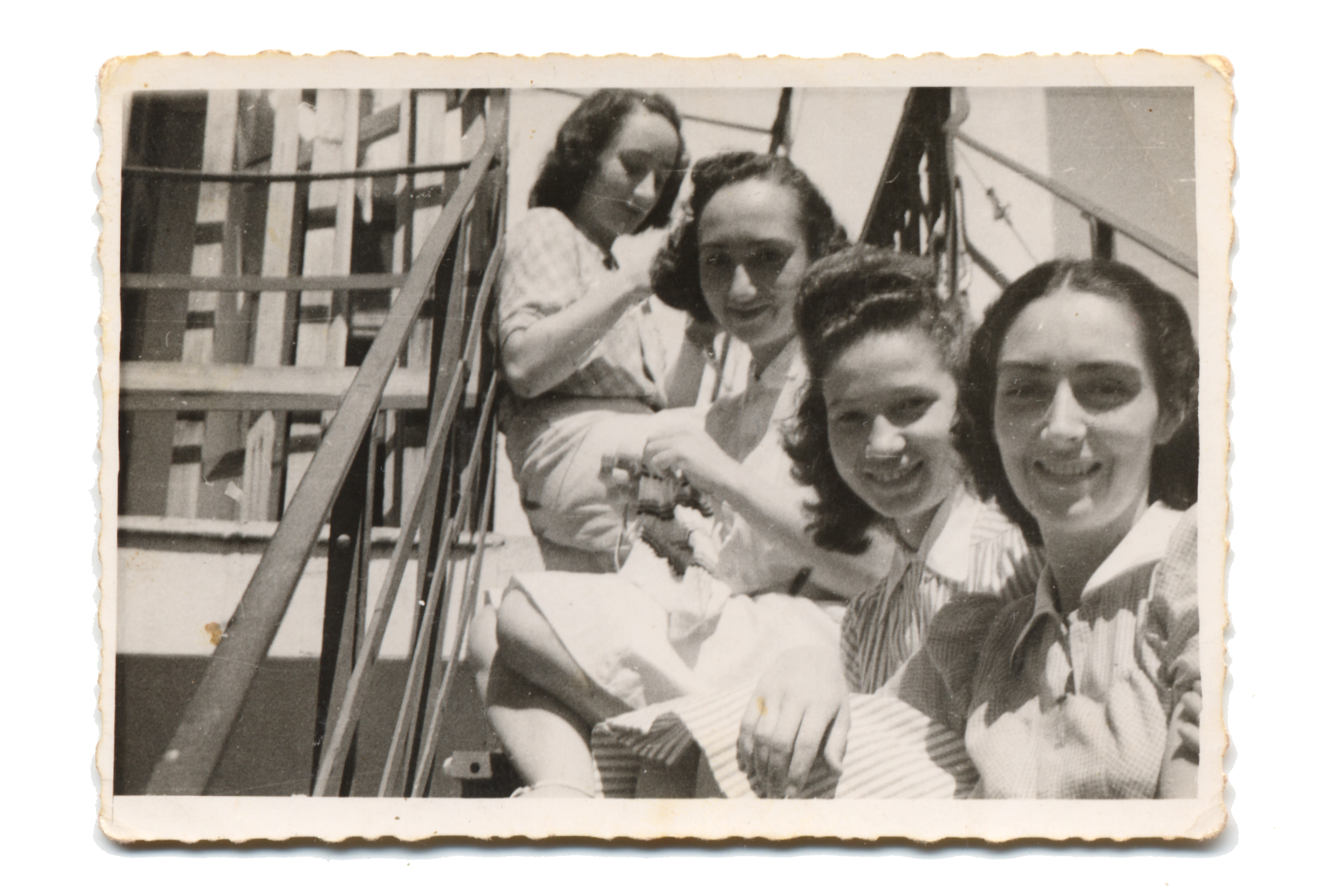 Rene Molho and relatives in the ghetto of Thessaloniki
