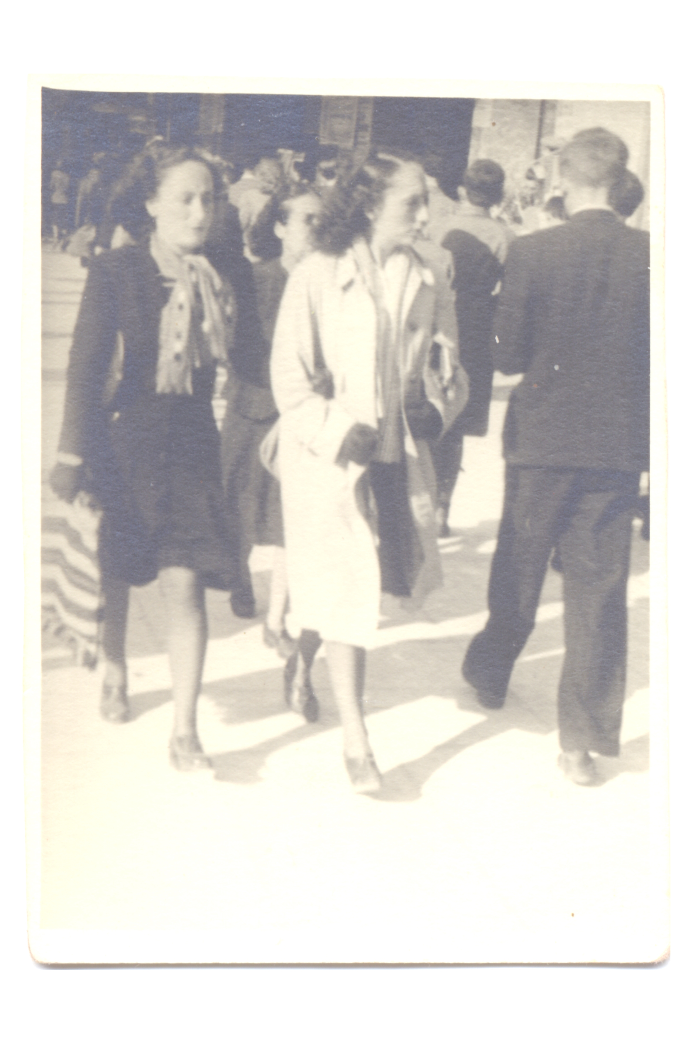 Eda Saporta and Matilde Dzivre right after the war
