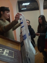 In the synagogue