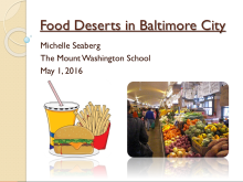 Food Deserts in Baltimore