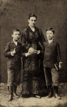 Ferenc Sandor's great-great-aunt Fani Rozsa with her sons