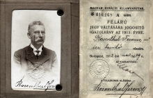 Ferenc Sandor's grandfather Ferenc Rosenthal's train pass