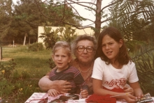 Rosa Rosenstein with her granddaughters Noga and Noemi Bar David