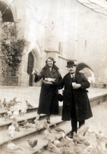 Kati Andai's parents Lajos and Margit Erdos in Meran