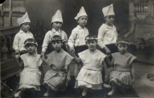 Leon Anzhel at a Purim party at the Jewish school