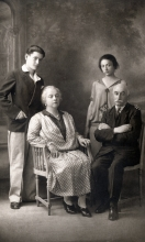 Salvator Israel with his parents and his sister Rene