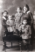 Salvator Israel with his sisters
