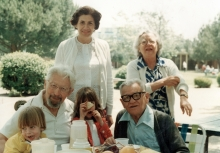 Matilda Israel and her husband Salvator Israel in the USA