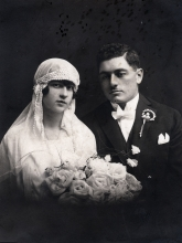 The wedding picture of Sarah and Yoakim Bartish