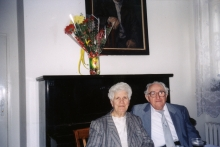 Roza and Leon Anzhel at their 60th wedding anniversary