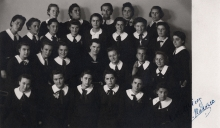 Sophie Pinkas in the high school in Vidin
