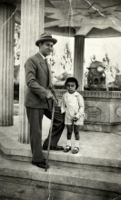 Anna Danon's uncle Iosif Aladjem with his son Marsel Aladjem