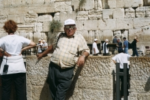 Alexander Gadjos in front of the Wailing Wall