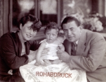 Otto Baru with his wife Ruzena Baruova and daughter Helena Krumholz