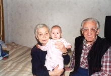 Max and Tsiva Ginovker with their great-granddaughter