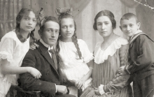 Amalia Blank and her family
