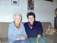 Revekka Blumberg  with her mother Hana-Leya Levin