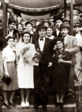 The wedding of Jozsef Faludi's cousin Aranka Fogler