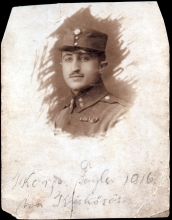 Jozsef Faludi's father Emanuel Fogler as a soldier in WWI