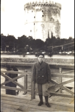 Albertos Beraha in front of the White Tower