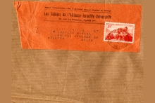 Envelope of magazine the Beraha family received