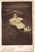 Loucie Angel as a small child