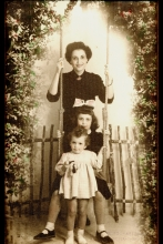 Mairy Angel with her daughters Lucy Beza and Ellie Angel