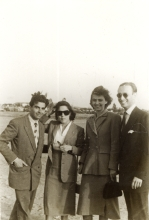 Mario Modiano with Dario Gabbai and friends