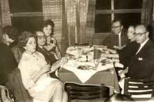 Mario Modiano having dinner with his parents and his wife