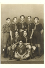 Solon Molho with fellow boy scouts
