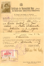 Renee Molho's Certificate of Spanish Nationality