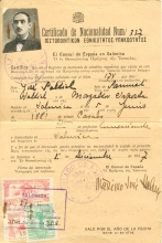 Joseph Saltiel's Certificate of Spanish Nationality
