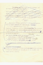 Draft of indemnity for Renee Molho and her sisters