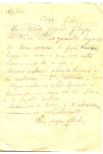 Letter from Mair Molho to his son Solon Molho