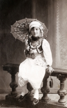 Hana Gasic's uncle Leon Montiljo's daughter, Hani,  in traditional costume