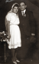 Hana Gasic's cousin on the mother's side Rahela and her husband Sumbul Katan's wedding picture