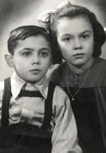 Portrait of Hana Gasic and her brother Rafael Montiljo
