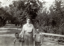 Ella Antal with her two sons Pal and Jeno Antal