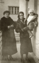 Maria Feheri with her mother and grandmother