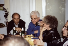 Gyula Foldes and Eva Redei with friends