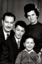 Miklos Braun with his family