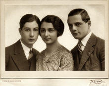 Miklos Braun with his sister Klara Nauman and brother Ference Braun