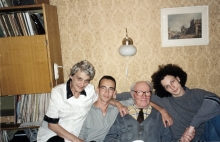 Lia German with husband and grandsons