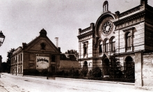 The synagogue of Wiener Neustadt before its destruction in Kristallnacht 1938