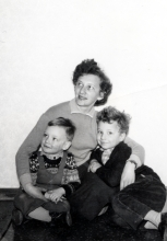 Lilli Tauber with her sons Willi and Heinz Tauber