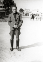 Lilli Tauber's brother, Eduard Schischa, in Israel