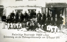 Lilli Tauber's uncle Isidor Friedmann with the volunteer fire brigade of Prein