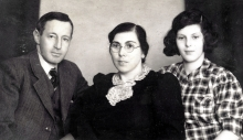 Lilli Taubers uncle and aunt, Adolf and Selma Schischa, and her cousin Erika Schischa