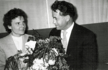 Liana Degtiar and her husband Ivan Barbul in the registry office