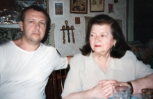 Zlata Tkach with her son Lev Tkach